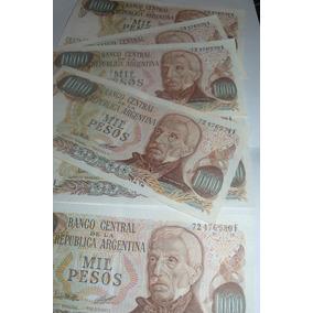 Lote Unico 6 Billetes 1.000 Bottero 2450b 4 Correl 2 No