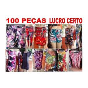 Lote Sacoleira 100 Roupas Variadas Lucro Revenda Atacado