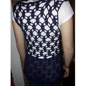 Chaleco Crochet Tejido A Mano Lana