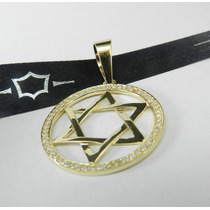 Pingente Estrela De Davi Ouro 18k Diamantes