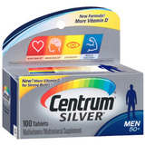 Tabletas Para Hombres 50+ 100 Tabletas (2 Frascos) Centrum