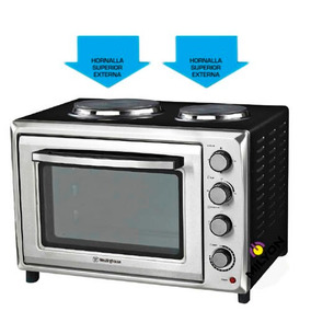 Horno Electrico Con Anafe Doble Westinghouse 45lts Hot Sale