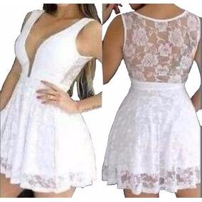 f371fac8b Vestido De Ano Novo Branco Solto - Vestidos Curtos no Mercado Livre ...