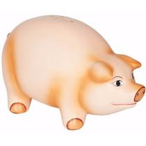 Porco Gigante Cofre Moedas - Cerâmica Decorado