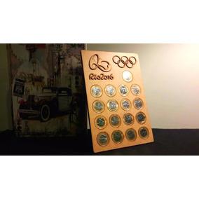 Porta Moedas Olimpíadas 2016 (17 Moedas) Magnético