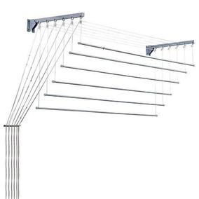 Varal Prático Teto/parede Branco Aço 56cm X 1,00 Cm Secalux
