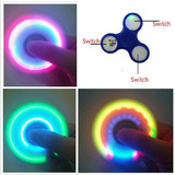 Spinner 9 Luces Led 3 Modos. Fidget Hand Brilla Oscuridad