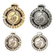 10 Medallas Deportivas Tenis Padel Squash 3,5cm