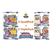 Blister Quádruplo + Triple Pack Reinado Arrepiante - Pokémon