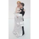 Topo Bolo Casamento Resina Noivinhos 14cmx8cm Frete Grátis