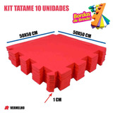 Tapete Eva Educação Física 10 Placas Vermelho 50x50x01cm