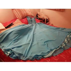 Vestido Quinceañera Talle Xs Turquesa Exclusivo Impecable