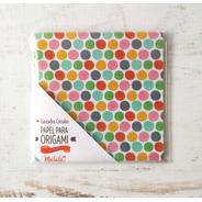 Círculos De Colores - Papel Para Origami 10 X 10 Cm