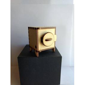 Cajita Fibrofacil Caja Fuerte Mdf Souvenir / Grabado Laser
