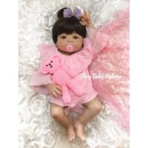 Bebê Reborn Corpo Inteiro Silicone Boneca Menina Victoria