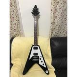 Guitarra Epiphone Flyng V Excelente Con Afinador De Clip