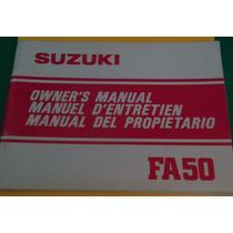 Manual Del Propietario Suzuki Fa 50cc