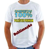 Kit 20 Camiseta 100%poliéster Premium Sublimação