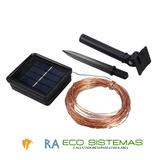 Serie Navideña De Alamabre 100 Leds Solar
