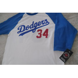 Playera Mlb Los Angeles Dodgers Valenzuela Manga 3/4