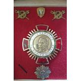 Vint97 Antigua Medalla Plata Cruz Peruana Al Merito Militar
