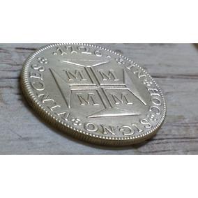 4000 Mil Reis 1927 Banho Proprio De Ouro 24 K.