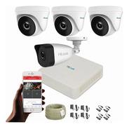 Cámaras De Seguridad Kit Cctv 1080p Hilook Mini Dvr 8ch+4cám