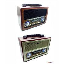 Radio Portatil Retrô Livstar Am Fm Sw Usb Analógico Classico