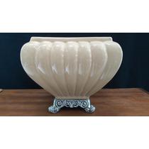 Vaso Cachepot Cachepo Cerâmica Esmaltada 20 Cm