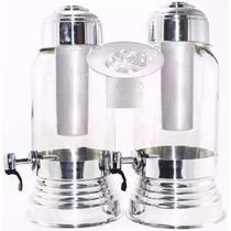 Kit 3 Suqueiras De Vidro 3,2 Litros Dispenser De Gelo