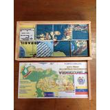 Rompecabezas Mapa De Venezuela. Madera. 3 Modelos