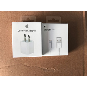 Cable 1m Y Cargador Original De Iphone 5 6 7 Envio Gratis