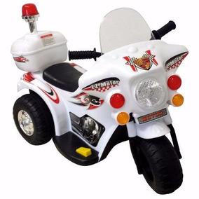 Triciclo Eletrico Infantil Criança Policia Menino Branco
