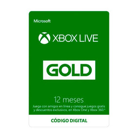 Tarjeta Suscripción Digital Licencia Xbox Live 12 Meses Gold