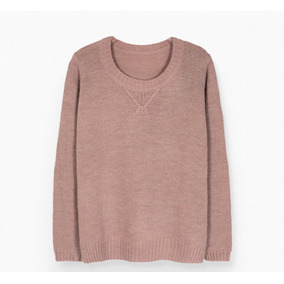 Sweater Cuello Redondo Tejido Para Mujer