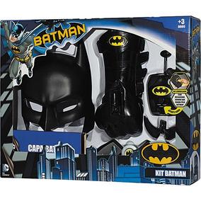 Kit Batman Comics C/ 8 Acessórios E Bat Comunicador C/ Som