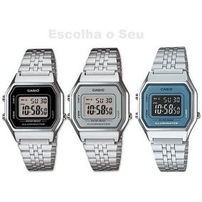 ecde17cfb07 Relógio Casio Retro Prata Réplica Feminino - Relógios no Mercado ...