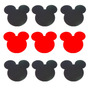 50 Apliques Recortes Mickey Tamanho Grande 7x4,5 Eva