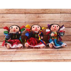 Paquete De 12 Muñecas De Trapo Mexicana, 30cm