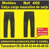 Moldes De Calça Cargo Masculina De Sarja
