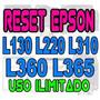 Reset Epson L220 L365 L310 Repara Almohadillas Garantizado