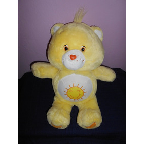 Peluche Osito Cariñosito Amarillo Habla Y Prende Luz 38 Cms