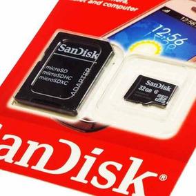 Cartão De Memória Micro Sd 32 Gb Sandisk Lacrado + Adaptador