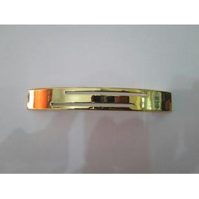 Puxador Moveis Gaveta Porta 128mm Cromado Fosco Dourado M001