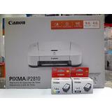 Impresora Canon Ip2810 + Cartuchos Originales