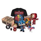 Funko Box Collectors Comics Civil War L Funko