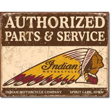 Anuncio Poster Lamina Metalico Motos Indian Parts 0147