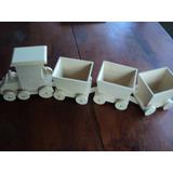 Tren Fibrofacil Con 3 Vagones Para Decoracion Candy Bar