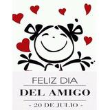 Calco Vinilo Stickers Día Del Amigo Decoración Vidriera