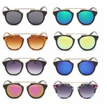 Oculos De Sol Lente Espelhado Olho De Gata Cat Triangulo Top